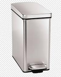rechteckiger schritt kann abfallbehälter edelstahl 40 liter