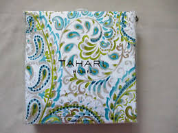 Tahari Home Curtains Tj Maxx by New Tahari Home Fabric Shower Curtain Hayden Paisley Aqua Lime Tan
