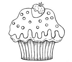 Refrence Cartoon Cupcake Coloring Pages