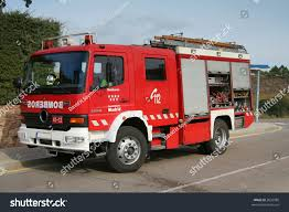 Emergency Fire Truck Bomberos Madrid Spain Stock Photo (Edit Now ...