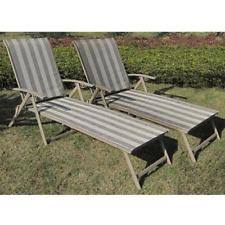 Item 3 Lounger Outdoor SET Of 2 Folding Chaise Lounge Chair Patio Furniture Pool Deck