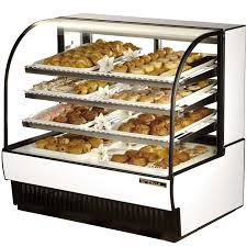 TCGD 50 True Dry Curved Glass Bakery Display Case