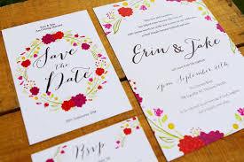 Hand Drawn Wedding Invitations Sail Swan