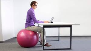 chair or stability ball what s better to sit on at work builtlean