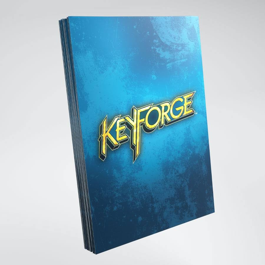 Keyforge Blue Logo Sleeves - Blue, 40ct, 66mm x 92mm