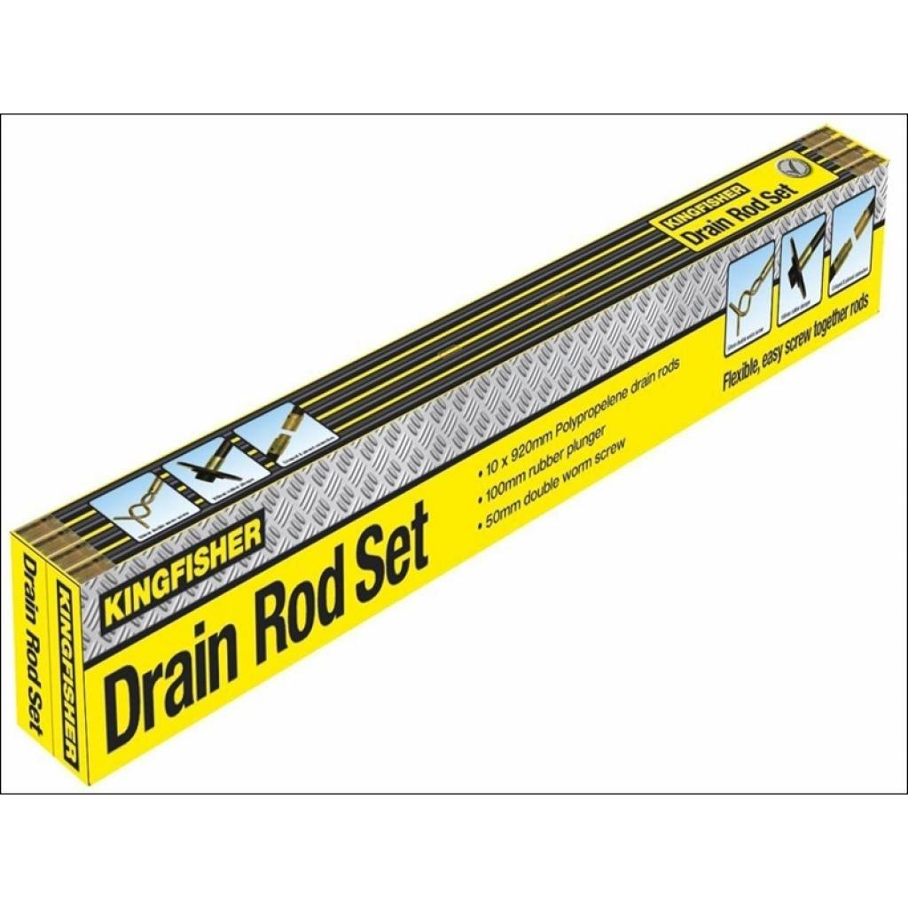 Kingfisher Drain Rod Set - x12