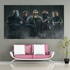 siege design clancys rainbow six siege block wall poster
