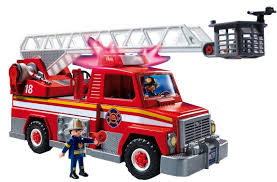 100 Fire Truck Pics Amazoncom PLAYMOBIL Rescue Ladder Unit Toys Games