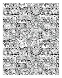 Creative Owls Coloring Book Adult Free Print A Stress Management For Adults Pdf Full Size