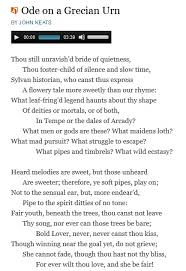 Below Is An Excerpt From One Of The Odes He Famous For If Not Weirdest Click On Image To Read Whole Ode And Even Listen Audio