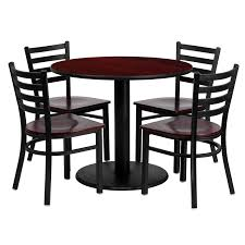 Amazon.com: Flash Furniture 36'' Round Mahogany Laminate Table Set ... Cocktail Tables Celebrations Party Rentals Square Wooden Banqueting Table In An Assortment Of Sizes How Many Guests Can I Seat At My Tablebasescom Australian Smline Trtles Is Australias Leading Supplier And Chairs Redwood City Ca Aabco Rents Sells Inc Tables Pogo 36 Round Wood Banquet Folding Chairs White Chair 1888builders Wedding Black Laminate Set With 4 Trapezoidal Back A Affair Flash Fniture Tpwal36rdgg Highgloss Walnut