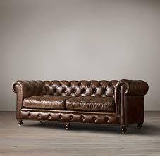 Restoration Hardware Petite Lancaster Sofa by The Petite Kensington Leather Sofas Restoration Hardware Home