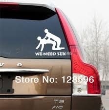 HotMeiNi New We Need Sex Stick Figure Vinyl Decals Funny Car Truck ...