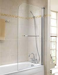 Geo Shower Panels by Twyford Geo6 Single Panel Bath Screen 1500 X 850mm Right Hand