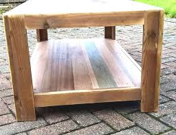 Handcrafted Wooden Pallet End Table With Shelf Underneath