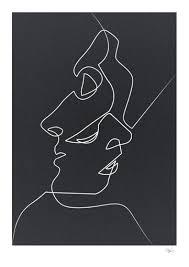 Drawn Handprint Black N White 7