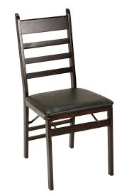 cosco products cosco wood folding chair with vinyl seat ladder