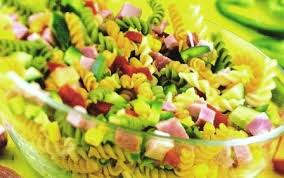 la recette d salade de pâtes multicolores