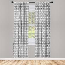 gardine fensterbehandlungen 2 panel set für wohnzimmer schlafzimmer dekor abakuhaus grau und weiß retro ziegelmauer kaufen otto