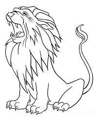 Lion Roaring Coloring Page