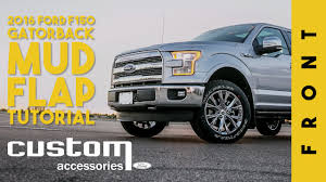 Ford Custom Accessories - Gatorback Mudflap Install Tutorial - F150 ... Front Rear Molded Splash Guards Mud Flaps For Ford F150 2015 2017 Husky Liners Kiback Lifted Trucks 2000 Excursion Lost Photo Image Gallery 72019 F350 Gatorback Flap Set Vehicle Accsories Motune Rally Armor Blue Focus St Rs Rockstar Hitch Mounted Best Fit Truck Buy 042014 Flare Rear 21x24 Ford Logo Dually New Free Shipping 52017 Flares 4 Piece Guard For Ranger T6 Px Mk1 Mk2 2011 Duraflap Fits 4door 4wd Ute