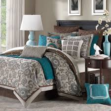 Chocolate Gray Teal Bedroom Color Scheme