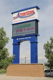 Electronic message center American Furniture Warehouse Thornton
