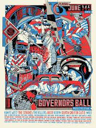 Governors Ball Music Festival Tyler Stout Poster 2016