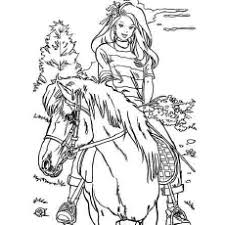 Barbie Loves Horse Riding Coloring Pages