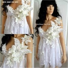 Amazoncom White Winter Butterfly Fairy Rave Bra Babydoll Dress