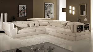 canapé grand angle canapé angle en cuir vachette blanc