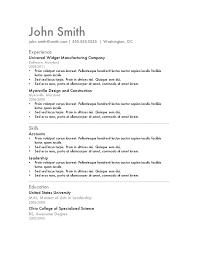 Free Resume Template Microsoft Word