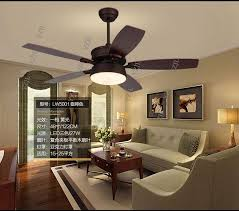 American Country Ceiling Chandelier Fan Living Room Dining Fans Retro LED Leaves Of Light Lamp