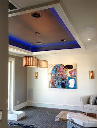 interior led lighting using warm white and rgb led lights