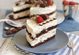 kinderschokolade torte mit erdbeeren