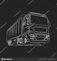 100 Motor Truck Cargo Cargo Outline Freight Logo Template Stock Vector