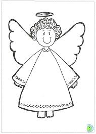 Angel Coloring Page Christmas Colouring DinoKids