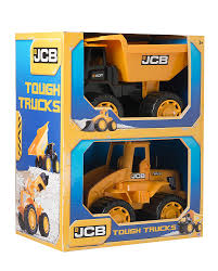 JCB 1416236 14-Inch Tough Trucks (Pack Of 2): Amazon.co.uk: Toys & Games