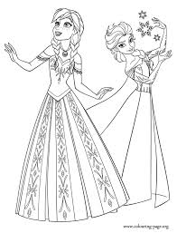 Enchanting Elsa And Anna Coloring Page 91 For Pages Kids Online With