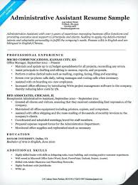Administrative Assistant Sample Resume Free Guide Executive Example Profile Exe