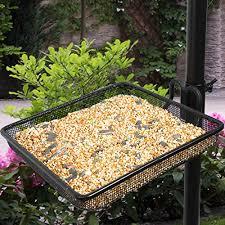 Sorbus Bird Feeding Bath Station Metal Deck Pole for Bird Feeders