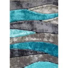5 x 7 medium gray teal area rug living shag rc willey