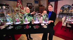 Qvc Christmas Tree With Remote by Illuminated Holiday Scenes Under Glass By Valerie On Qvc Youtube