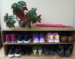BRAND NEW Handmade Retro Style Wooden Shoe Rack Cabinet