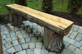 The Finalized Wood Bench On Patio