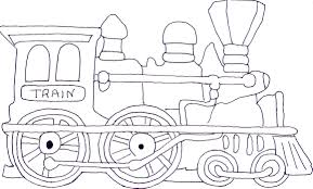 Coloring Page Train In Pages