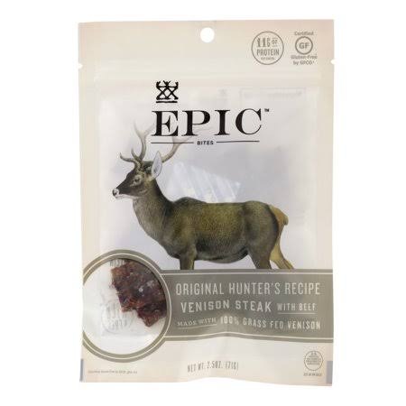 Epic Venison Steak with Beef Jerky, 2.5 oz