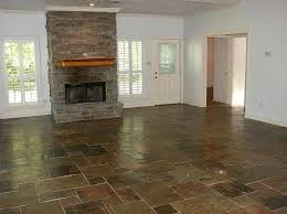 Slate Floor Natural Flooring For Living Room With Fireplace Tiles