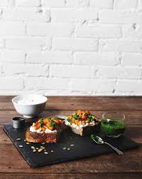 Desserts With Pumpkin Seeds by Roasted Butternut Squash Tartine On Rye With Fresh Ricotta