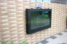 Outdoor Tv Enclosure Barn Door Style Outdoor Cabinet Outdoor Tv